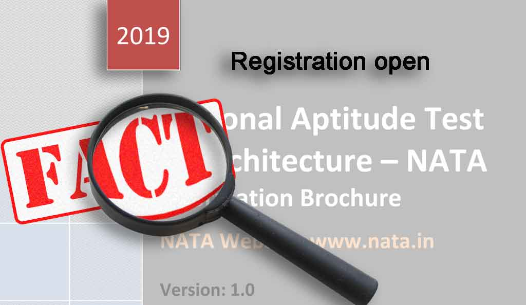 NATA 2019 REGISTRATION NOTIFICATION
