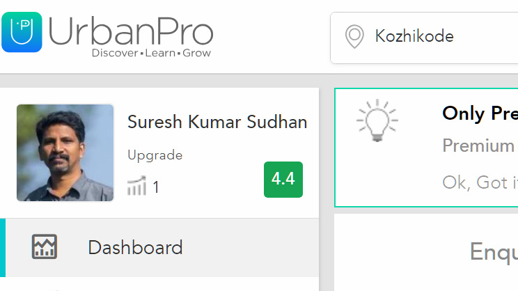 Reviews on urban pro teachers community SURESHKUMAR-The-Top-NATA-Trainer-in-Kerala-India