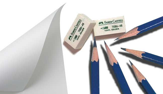 Drawing Materials for candidates those who are waiting for NATA exam date